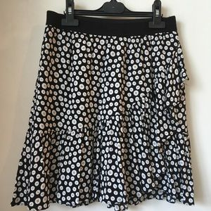 Anthropologie Maeve Button Print Skirt